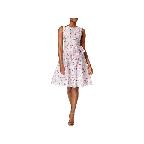 Tommy Hilfiger Womens Sundress Floral Print Pleated