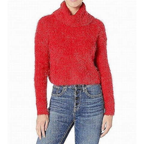 BB Dakota Womens Sweater Cherry Red Size Medium M Turtleneck Stretch