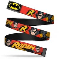 Batman Fcg Black Yellow Chrome Robin Red Black Poses Red Webbing Web Web Belt