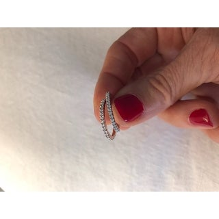 Miadora 10k Rose Gold 1/5ct TDW Diamond Eternity Wedding Band Ring