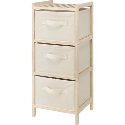 Whitmor 6026-7228 wood chest 3 drawer cream