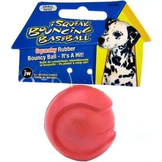 JW Pet Small iSqueak Bouncing Baseball Rubber Dog Toy