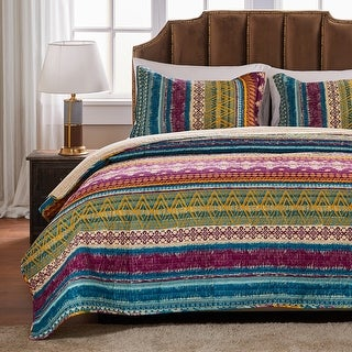 Link to Greenland Home Fashions Southwest All-Cotton Quilt and Pillow Sham Set Similar Items in Quilts & Coverlets