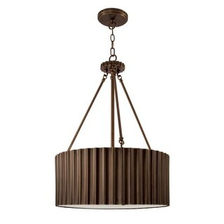 "Norwell Lighting 5640 Metalique 18"" Wide 4 Light Pendant with Metal Drum Shade"