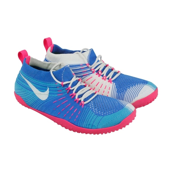 Nike Hyperfeel Cross Elite Womens Blue Textile Athletic Lace Up Running Shoes