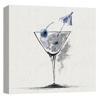 """PTM Images 9-124704  PTM Canvas Collection 12"""" x 12"""" - """"Martini II"""" Giclee Liquor & Cocktails Art Print on Canvas"""