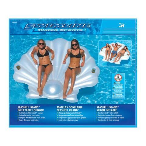 Swimline 90542 Seashell Lounger, Vinyl, White
