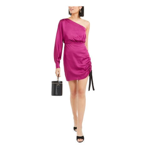 BAR III Pink Long Sleeve Above The Knee Dress 10