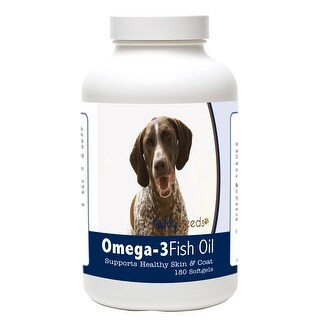 Healthy Breeds German Shorthaired Pointer Omega-3 Fish Oil Softgels