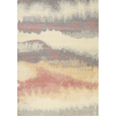 Converge Cream Pink Grey Ombre Rug - 8' x 10'/Surplus