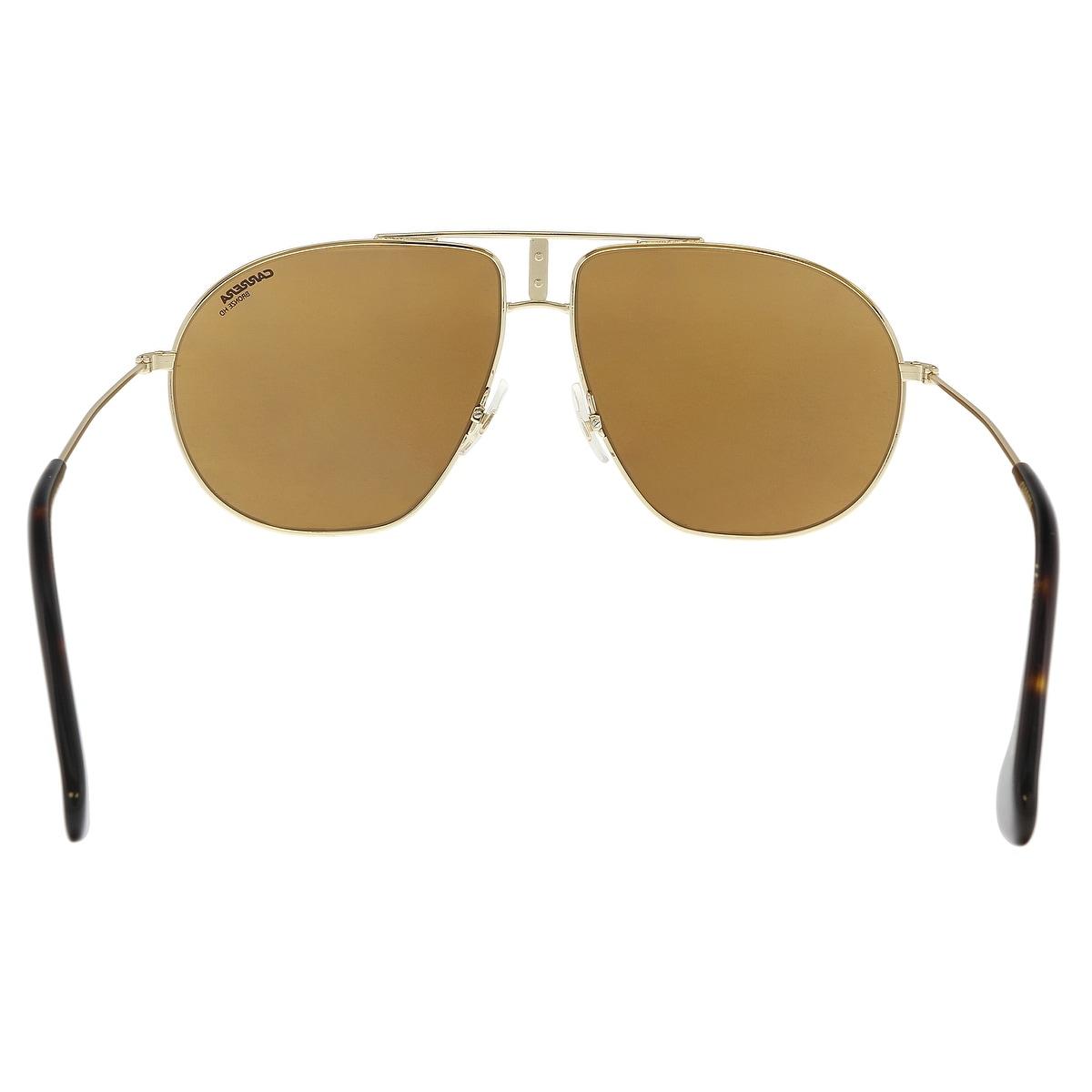 43a688799 Shop Carrera BOUNDS 0RHL-K1 Gold Black Aviator Sunglasses - 60-12-145 -  Free Shipping Today - Overstock - 21450467
