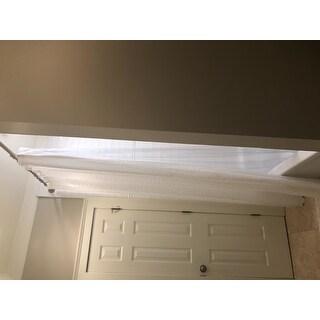 Premium Weight Jumbo Long Vinyl Shower Curtain Liner with Metal Eyelets