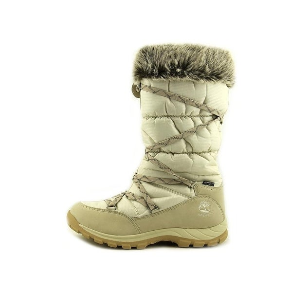 Shop Timberland Over The Chill Women Round Toe Canvas White