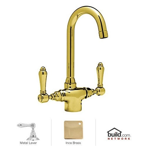 Rohl A1667LM-2 Country Kitchen Prep Faucet with Metal Lever Handles