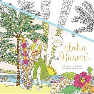 "KaiserColour Perfect Bound Coloring Book 9.75""X9.75'-Aloha Hawaii"