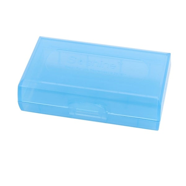 72mmx44mmx22mm Hard Plastic Battery Storage Case Holder Organizer Blue