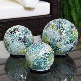 Link to Sunnydaze Lighted Ocean Dreams Mosaic Tabletop Garden Gazing Globes - Set of 3 Similar Items in Outdoor Decor