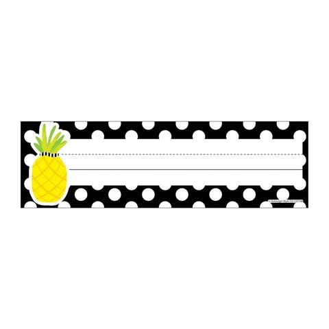 Simply Stylish Tropical Pineapple Polka Dot Nameplates - One Size