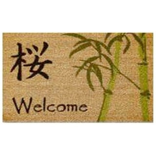 Home & More 12044 Asian Welcome Vinyl Back Mat 18 X 30 Inches