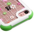 Insten Pink/ Green Tiny Blossoms Hard PC/ Silicone Dual Layer Hybrid Rubberized Matte Case Cover For Apple iPhone 7 - Thumbnail 0