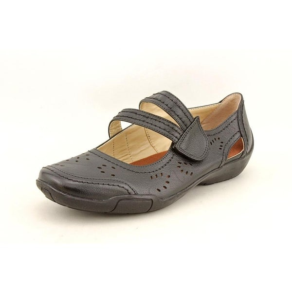 Ros Hommerson Chelsea Women WW Round Toe Leather Black Mary Janes