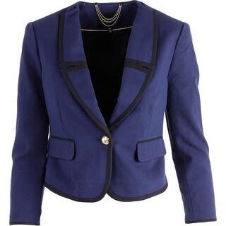 Juicy Couture Black Label Womens Ponte Button Front Jacket