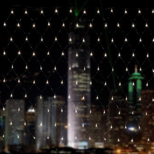 agptek 300led net mesh fairy string light christmas lights lighting party wedding tree wrap white