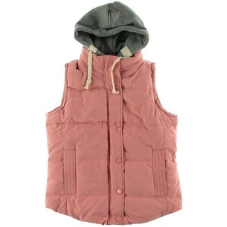 Dayiyouku Womens Colorblock Hooded Outerwear Vest - XXL