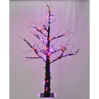 Christmas at Winterland WL-DTR-06-LPU/OR 6 Foot Pre-Lit Halloween Tree with Purple and Orange LED Lights