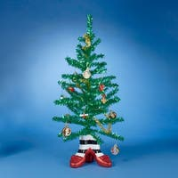 """Pack of 6 Fully Decorated Wizard of Oz Artificial Christmas Tinsel Tree Sets 18"""" - green"""