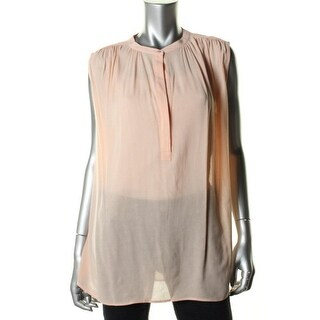 Vince Womens Sheer Gathered Blouse - 8