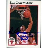 Signed Cartwright Bill Chicago Bulls 1991 NBA Hoops Basketball Card autographed