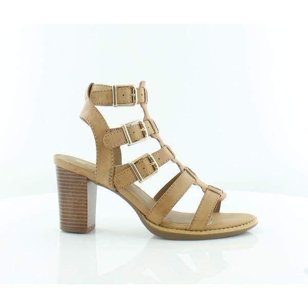 White Mountain Gemmy Women's Sandals & Flip Flops Natural/Burn/Smooth