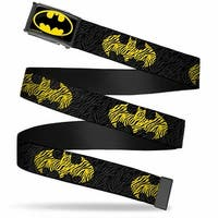 Batman Fcg Black Yellow Black Frame Zebra Bat Signal Black Gray Web Belt