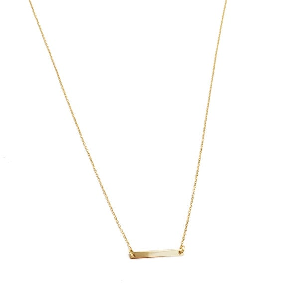 Honeycat Small Classic Bar Necklace (Delicate Jewelry)