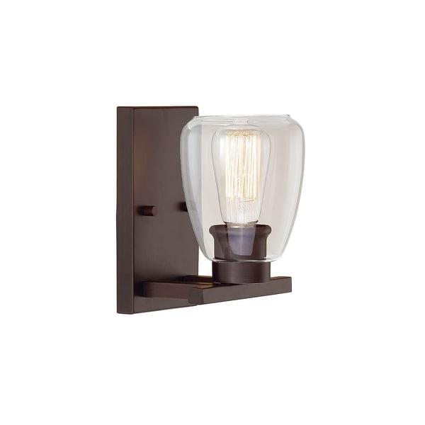 "Millennium Lighting 361 1-Light 10"" Tall Bathroom Sconce With Clear Shade - n/a"