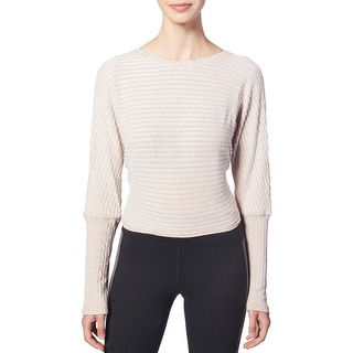 Link to Splendid Women's Ribbed Knit Tie Back Long Sleeve Activewear Fitness Top Similar Items in Athletic Clothing