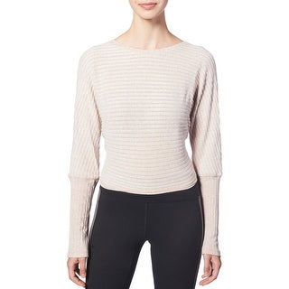 Link to Splendid Women's Ribbed Knit Tie Back Long Sleeve Activewear Fitness Top Similar Items in Tops