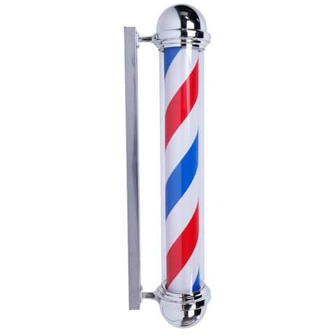 "36"" Rotating Barber Pole Light LED Light US Plug"