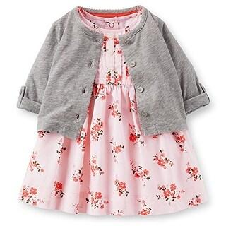 Carter's Baby Girls' Sateen Floral Dress Set 3 Mo