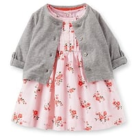 Carter's Baby Girls' Sateen Floral Dress Set 3 Mo