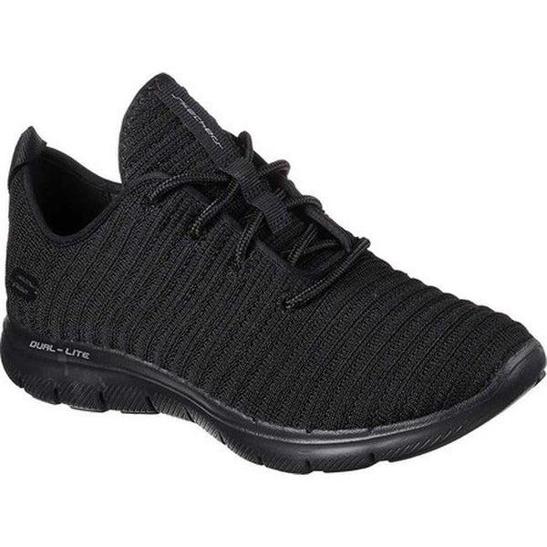 2630d6834223 Shop Skechers Women s Flex Appeal 2.0 Estates Sneaker Black Black ...
