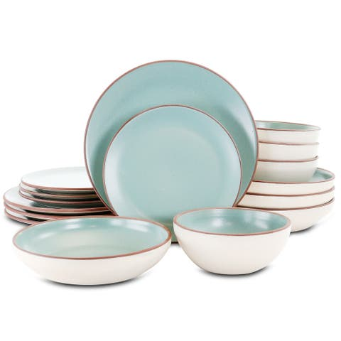 Gibson Elite Contempo Classic 16 Pc Terracotta Dinnerware Set in Mint