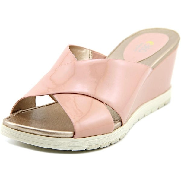 8bfa91d6bfb Shop Easy Spirit e360 Hartlynn Women Open Toe Leather Pink Wedge ...