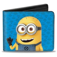 Minion Tom Pose1 + Pose 2 Minion Icons Blues Bi Fold Wallet - One Size Fits most
