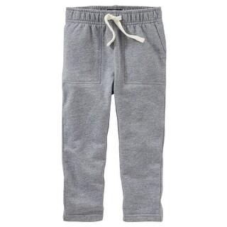OshKosh B'gosh Baby Boys' French Terry Pants, 6 Months - gray