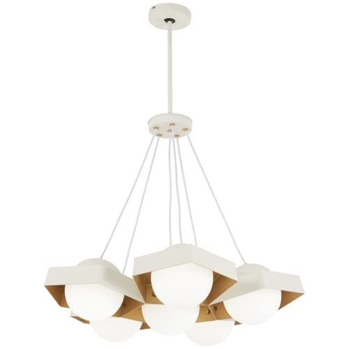 Kovacs P1395 044g L Five O 26 1 4 Wide Integrated Led Chandelier With Etched Gl Free Shipping Today 27259308