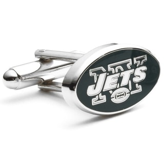 Silver Plated New York Jets Cufflinks