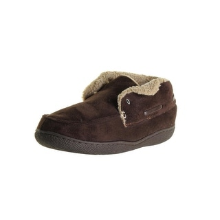 Dockers Mens Laceless Lined Bootie Slippers
