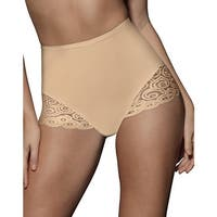 Bali Brief with Lace Firm Control 2-Pack - Size - M - Color - Nude